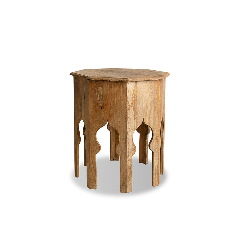 Octagon Wood-Brown side table
