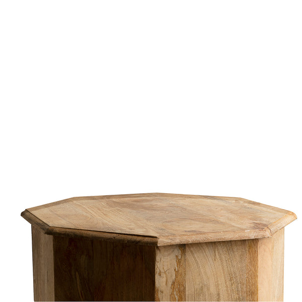 NEW: Octagon Wood-Brown side table