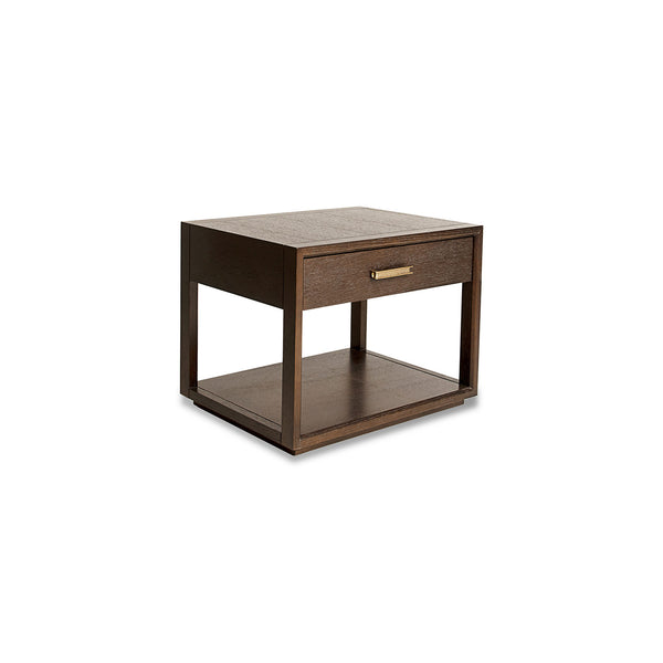 NEW: Cuopo- Dark Oak/Bronze nightstand
