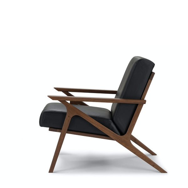 Otio lounge chair- Black/Walnut
