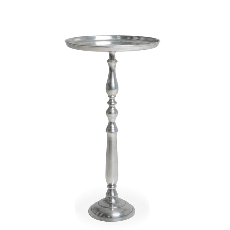 NEW: Pawn Tray Side Table, Silver