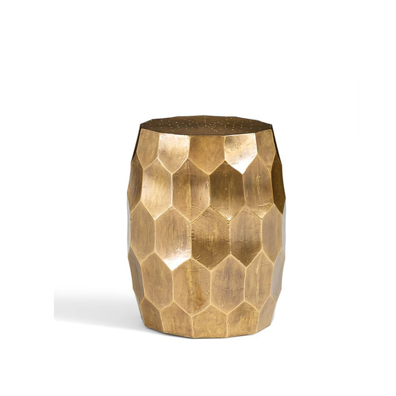 Metal Clad Accent- Foil Brass side table