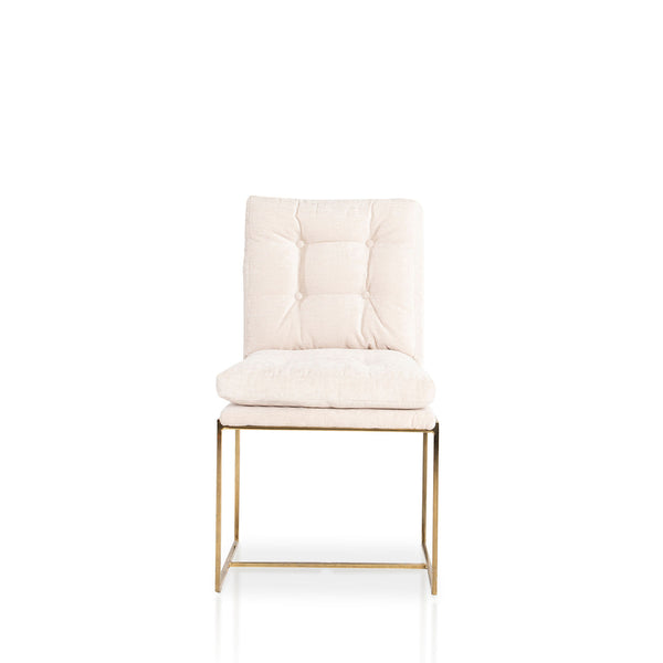 Privy Tufted chair- Oyster Chenille