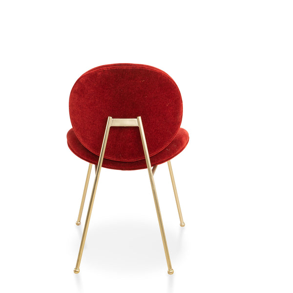 Jane chair, Red pepper mohair