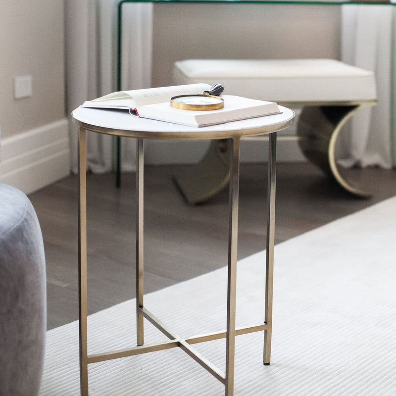 Marlton Side Table Gold - Threshold