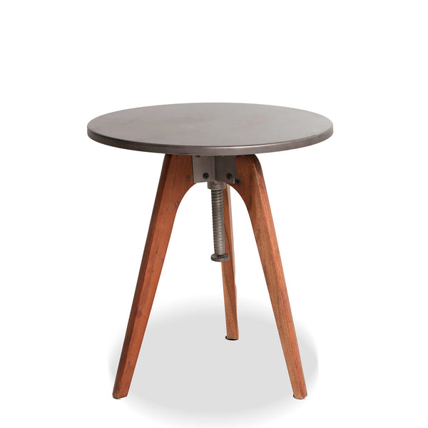 CB2- Bousaf Wood and Gold side table