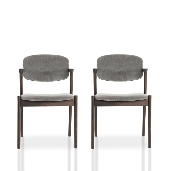 Spunk chairs- Charcoal Mohair (set of 2)