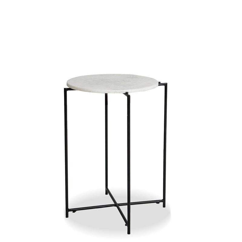 NEW: Annete Round X Base- Black/Marble