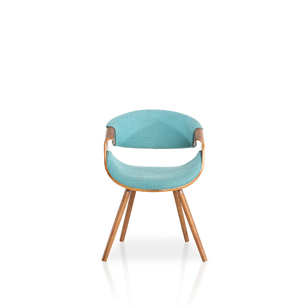 Skibby chair- Teal/Walnut (set of 3)