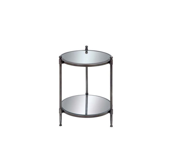 Traditional Accent Side Table- Gray