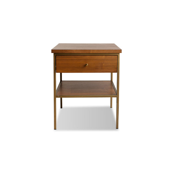 NEW: Nook- Walnut/Gold nightstand