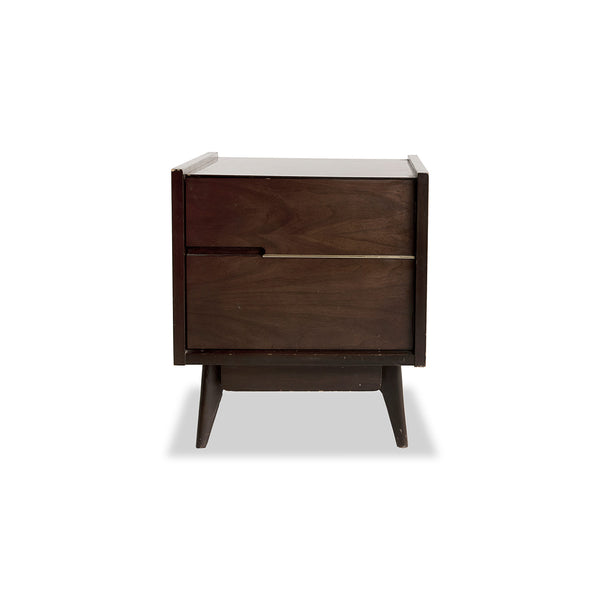 NEW: Mid Century Vintage Prop- Walnut nightstand