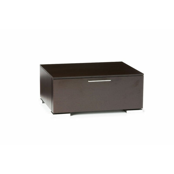 Drawer Solid Wood Nightstand in Wenge