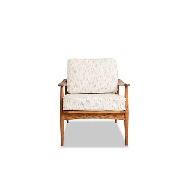 NEW: Mid Century Show Wood Chair- Beige