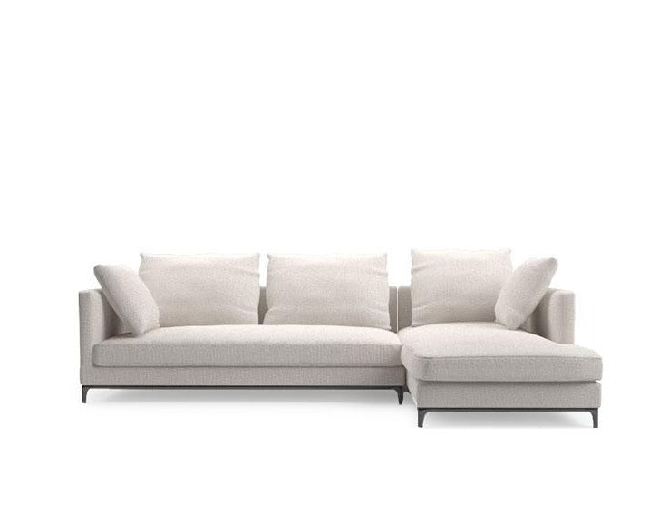 Crescent LAF Sofa Sectional & Chaise lounge - Heather Wheat