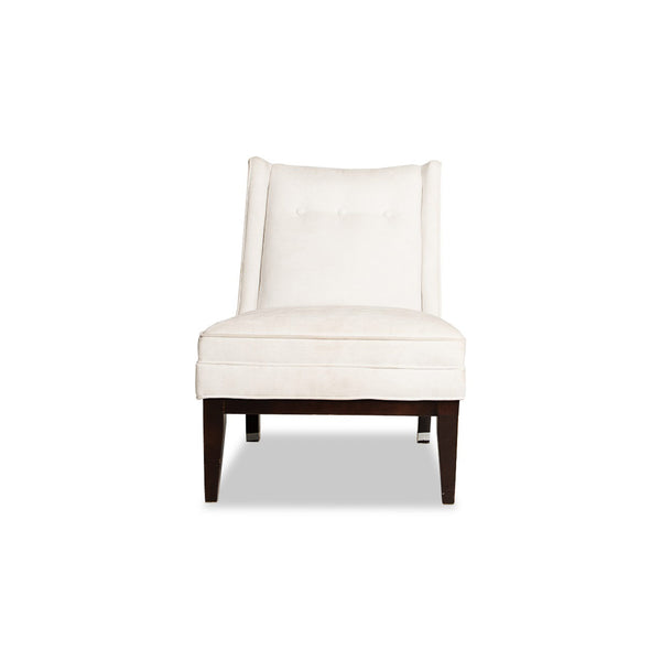 White Upholstered Lounge Chair