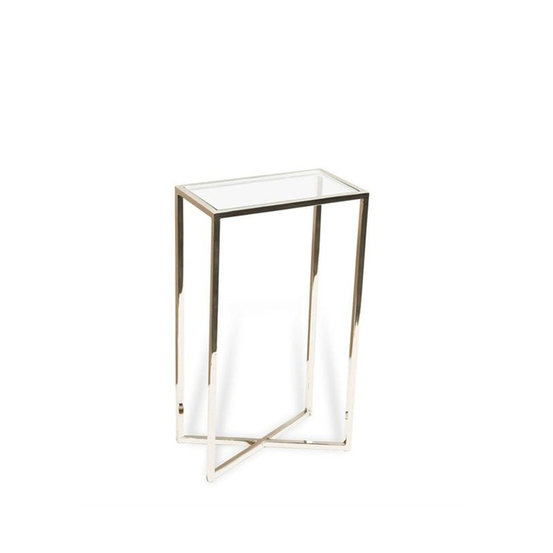 Zander Rectangular Drink or Side Table- Chrome