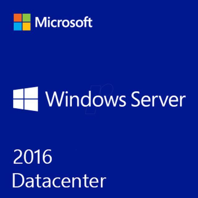 Microsoft Windows Server 2016 Datacenter - 64Bit - 10 User CALS - 4 Core - Download
