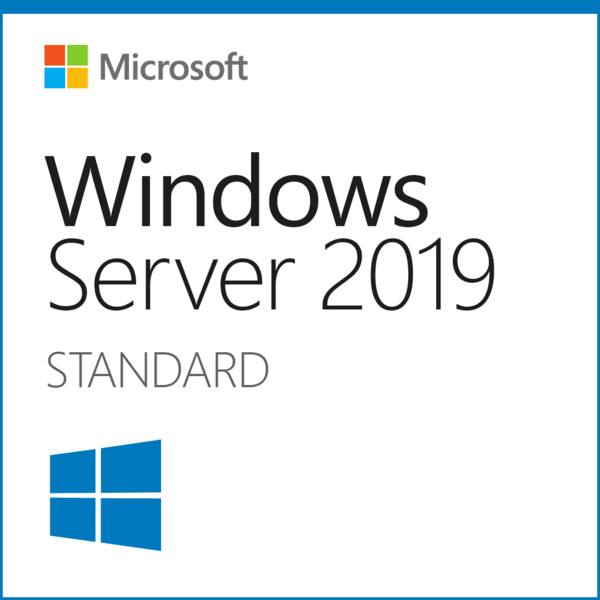Microsoft Windows Server 2019 Standard Edition x64 64 bit with 24 Core, 30 CALs and 2 VMs