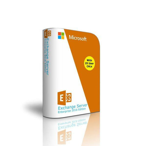 Exchange Server 2016 - 25 User CAL License - Enterprise Edition 64 Bit Complete