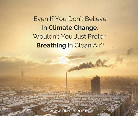 Even if you don't believe in climate change, wouldn't you just prefer breathing in clean air?