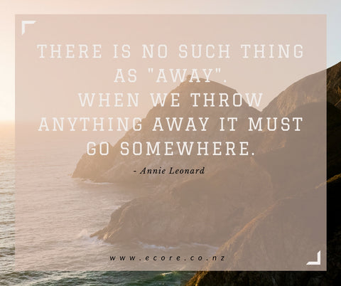 "There is no such thing as ""away"". When we throw anything away it must go somewhere. - Annie Leonard."