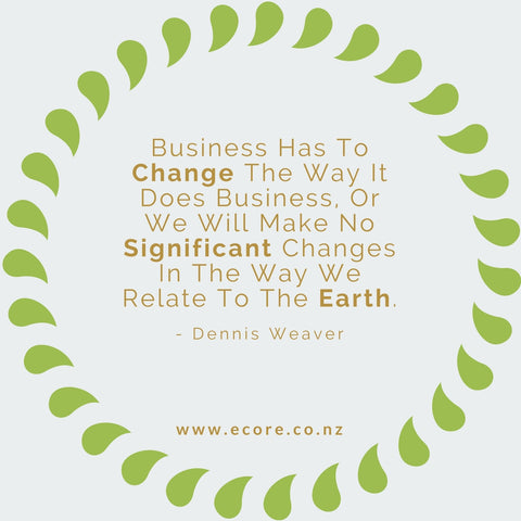 Business has to change the way it does business, or we will make no significant changes in the way we relate to the earth. - Dennis Weaver