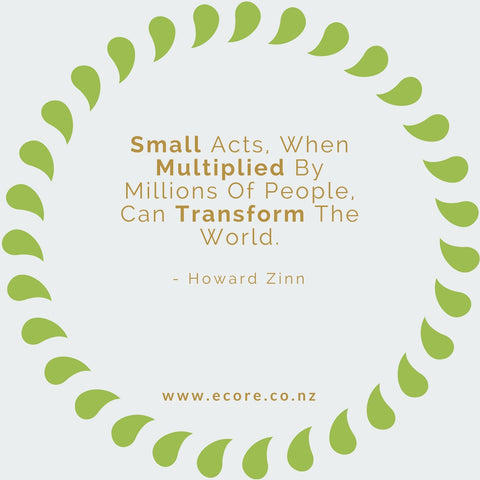 Small acts when multiplied by millions of people can transform the world. - Howard Zinn