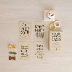Beautiful Baby Gifts - Baby Milestone Cards - Christmas Gift Guide