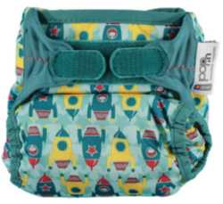 Newborn Reusable Cloth Nappy -  Rockets