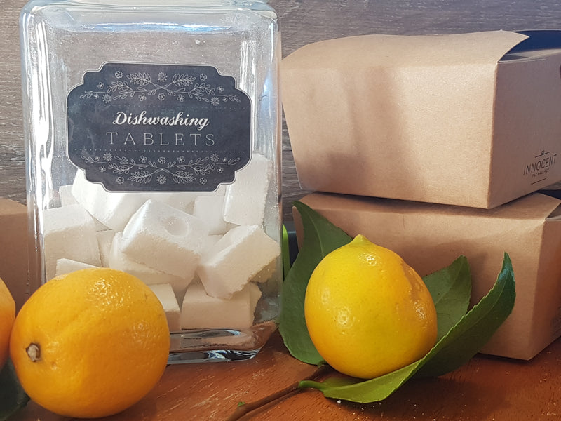 100% Natural Dishwasher Tablets | Lemon & Sunshine