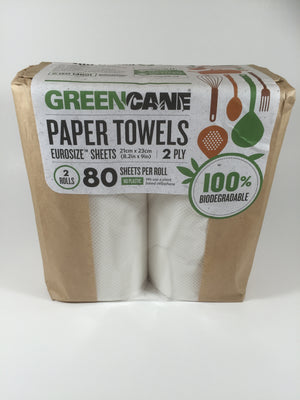 Greencane bamboo paper towels - twin pack