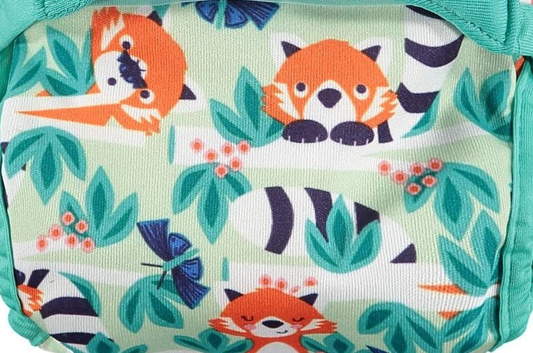 Pop-in Reusable Nappy - Bamboo - Red panda