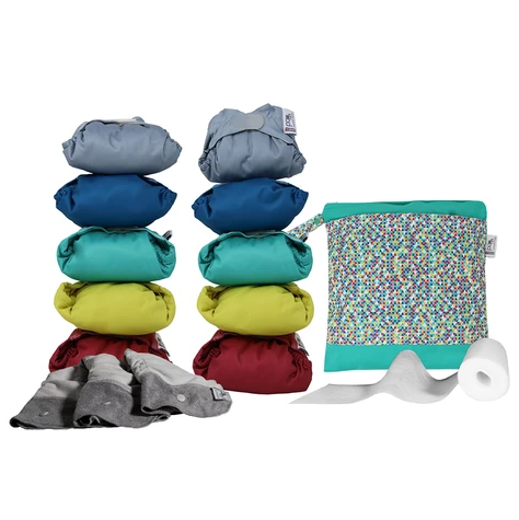 Pop In Reusable Nappies Medium Box - Bamboo Brights