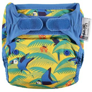 Pop-in Reusable Nappy - Bamboo - Parrot