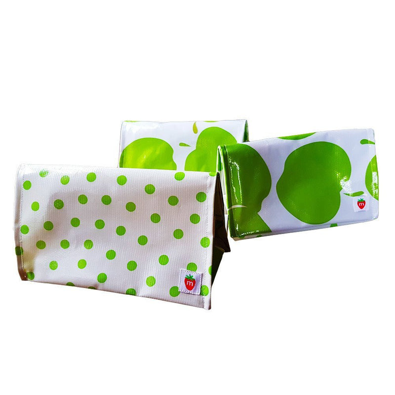 Roll down lunchbag - green Dot