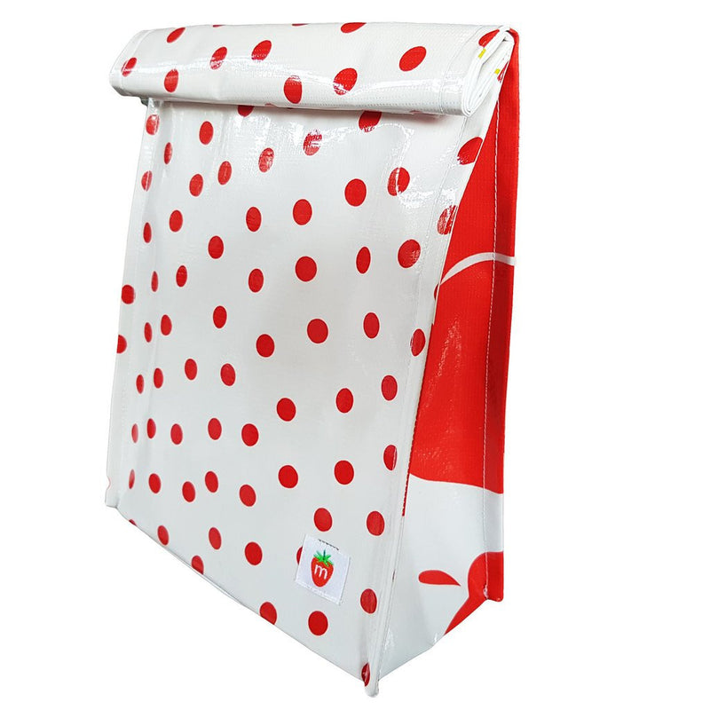 Roll down lunchbag - red Dot