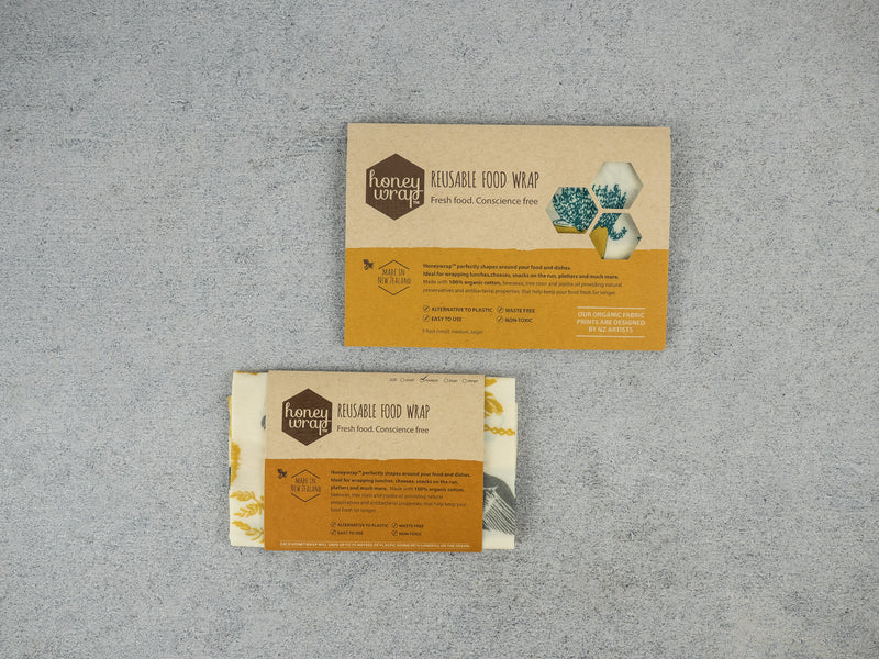 Honeywrap - A Plastic Wrap Alternative - Three Pack