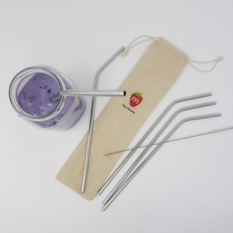Reusable Drinking Straws Set