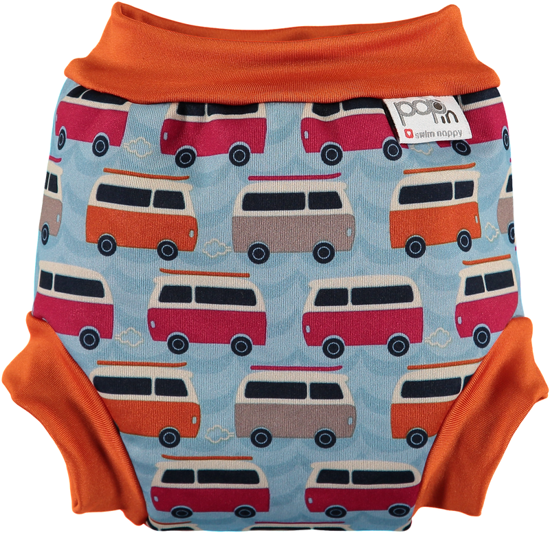Pop-in Swimming Nappy - Blue Campervan