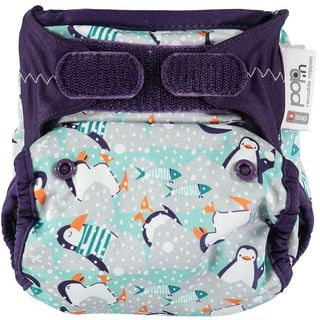 Pop-in Reusable Nappy - Bamboo - Winter Pengiun