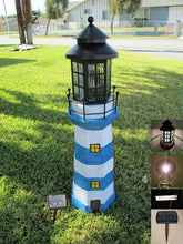 "ASC Solar Lighthouse Garden Figurine Light House Garden Gray Color 36"" Tall LED"