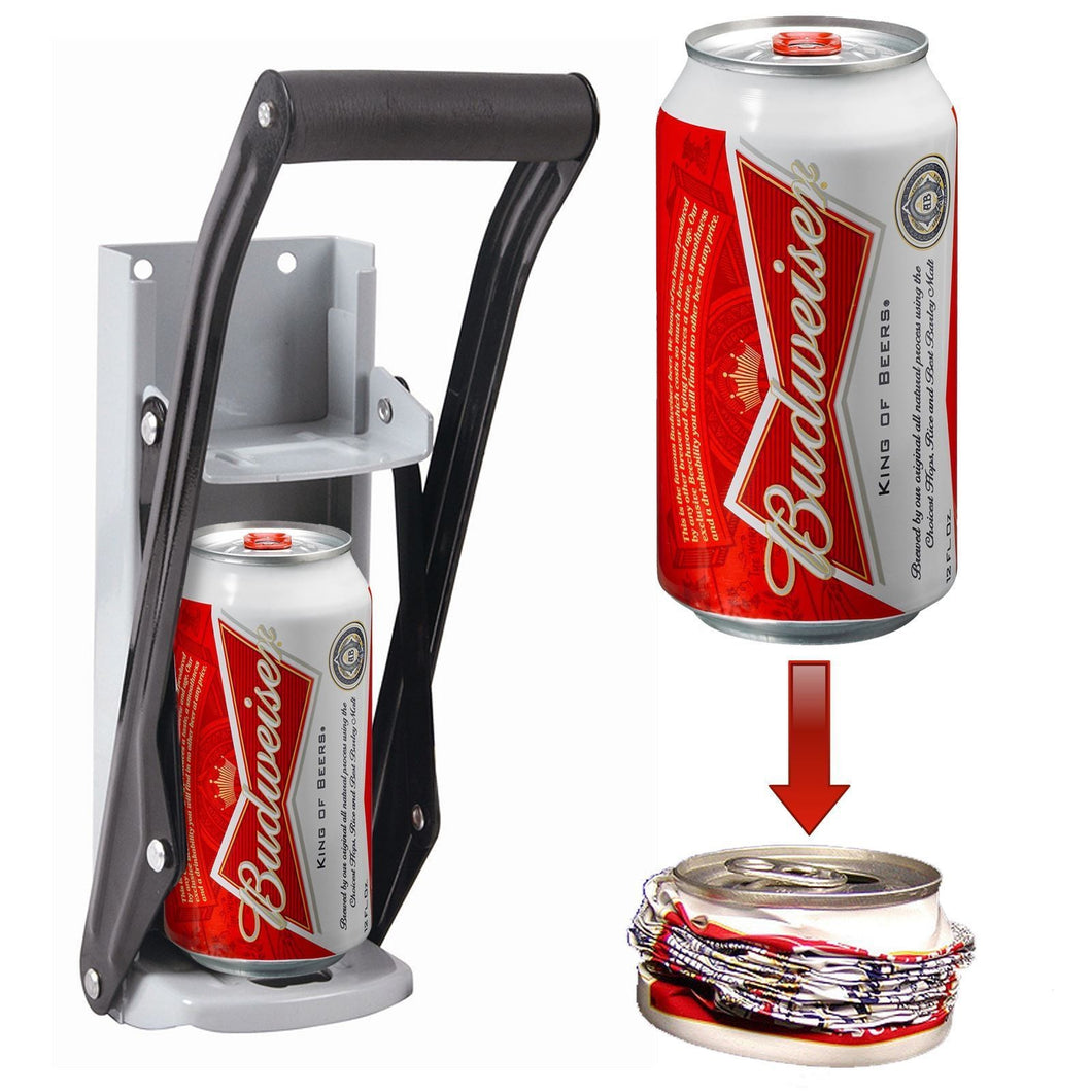 ToolShopUSA 16 Ounce Aluminum Can Crusher and Bottle Opener