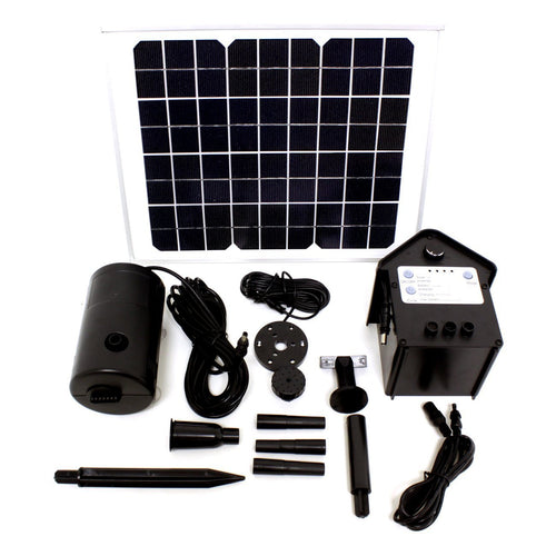 10 Watts Solar Water Pump Kit Battery Version Continuous On