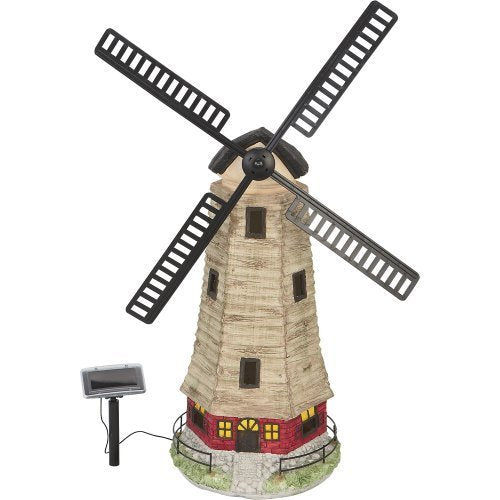 Large Solar Windmill Garden Landscape House Light C5118W