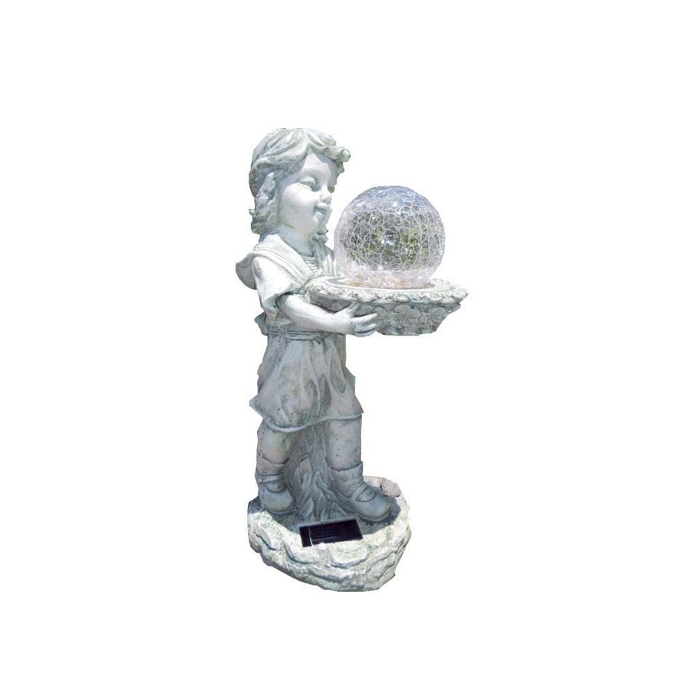 Solar Girl with Glass Ball Light Color Changing 19