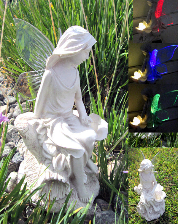 Solar Fairy Color Changing Wings and Lighted Bunny