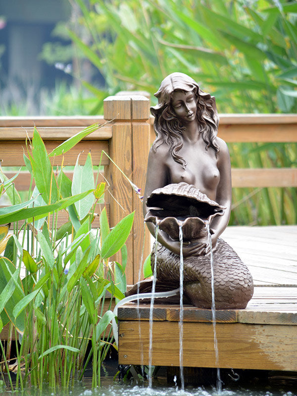 Mermaid Pond Solar Water Fountain