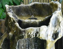 Wood Land Solar Water Fountain