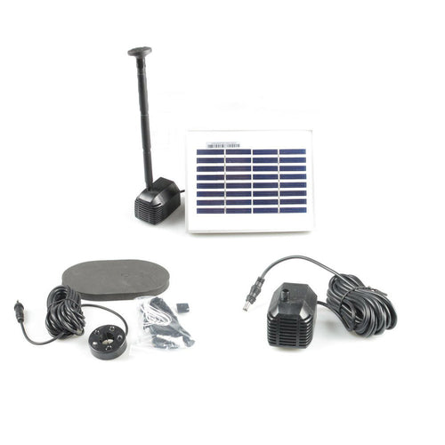 ASC 1.6 Watt Solar Water Pump 3-Hour Timer Control with 5-LED Light - Open Box